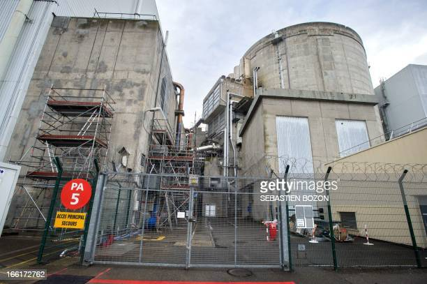 The Fessenheim nuclear power plant is pictured during a press visit on April 9 in Fessenheim eastern France AFP PHOTO / SEBASTIEN BOZON