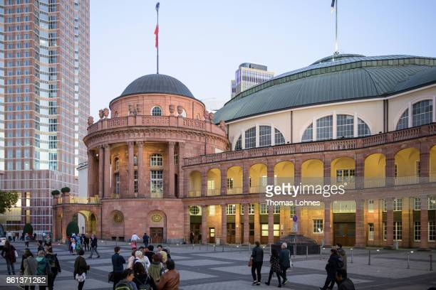 The 'Festhalle' pictured in Frankfurt am Main Germany
