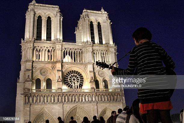 The 'Fete de la Musique' at Notre Dame Cathedral in Paris France on June 21st 2010
