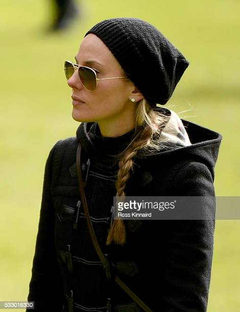 The fiancee of Rory McIlroy Erica Stoll follow his group during the second round of the Dubai Duty Free Irish Open Hosted by the Rory Foundation at...