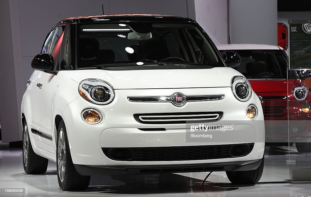 The Fiat SpA Abarth vehicle is displayed during the 2013 North American International Auto Show (NAIAS) in Detroit, Michigan, U.S., on Tuesday, Jan. 15, 2013. The Detroit auto show runs through Jan. 27 and will display over 500 vehicles, representing the most innovative designs in the world. Photographer: David Paul Morris/Bloomberg via Getty Images