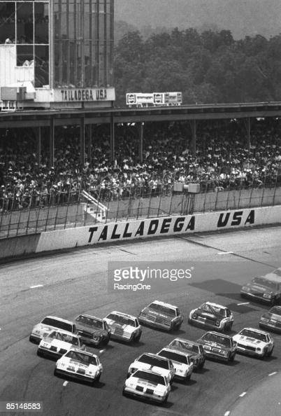 The field for the Talladega 500 won by Lennie Pond on August 6 1978 at the Talladega Speedway in Talladega Alabama