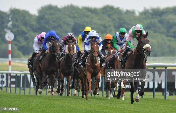The field of horses in the BetVictor Royal Ascot No Lose Hughes Stakes during Timeform Jury Stakes / Sandy Lane Stakes day at Haydock Park Racecourse...