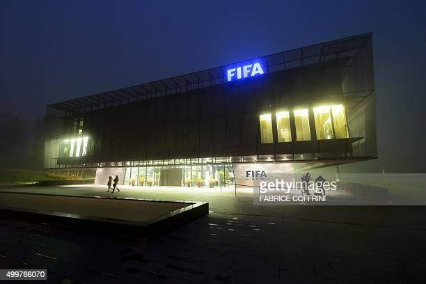 TOPSHOT The FIFA headquarters are pictured on December 3 2015 in Zurich The unprecedented corruption scandal engulfing FIFA widened on December 3...