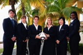 The FIFA U17 Women's World Cup Technical Study Group pose for a picture outside the Hyatt Hotel on September 18 2010 in Arima Trinidad And Tobago