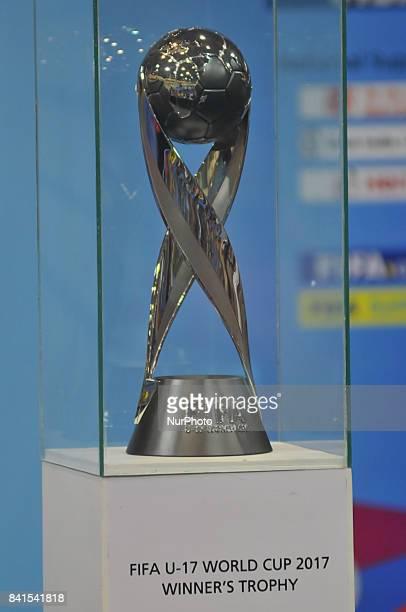 The FIFA U17 World Cup 2017 Winners Trophy visit in Kolkata City on September 012017 at Kolkata Khudiram Anusilan Kendra in India The trophy tour...