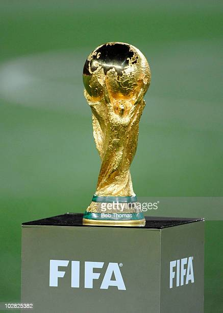 The FIFA World Cup trophy before the start of the 2010 FIFA World Cup Final between the Netherlands and Spain on July 11 2010 in Johannesburg South...