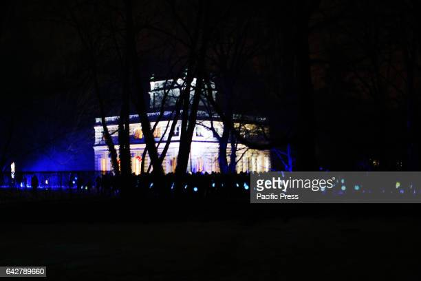 The fifth annual Winter Evening of Light was held at the Royal Lazienki Park on February 18 2017 in Warsaw Poland The evening showcased the park...