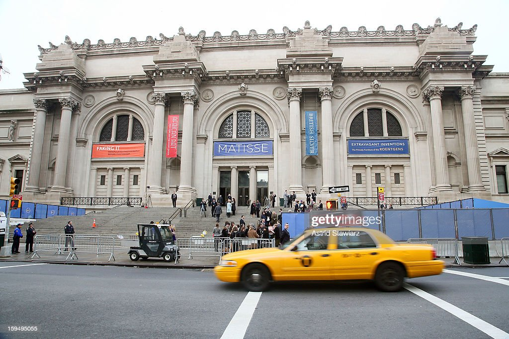 The Fifth Avenue Plaza Groundbreaking at the Metropolitan Museum of Art is held on January 14, 2013 in New York City.