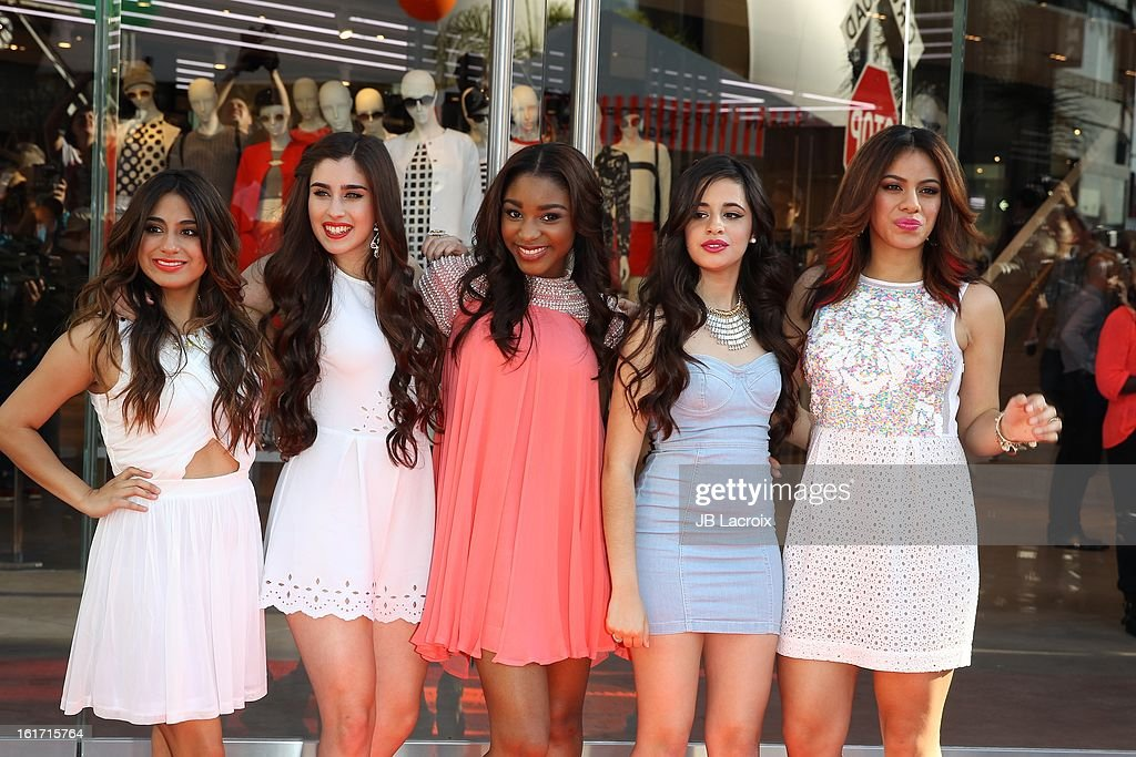 The Fifth Harmony attend Topshop Topman LA Grand Opening at The Grove on February 14, 2013 in Los Angeles, California.