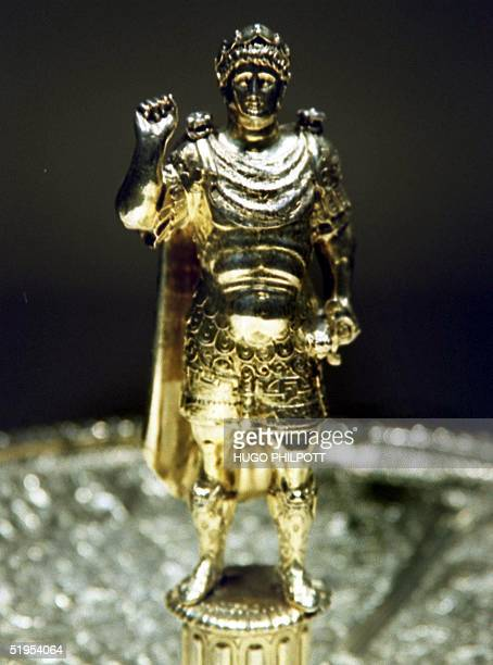 The figure of the Emperor Nero created circa by Aldo Brandini Tazza is part of the Wernher Collection at Christie's London 30 June 2000 The gold...