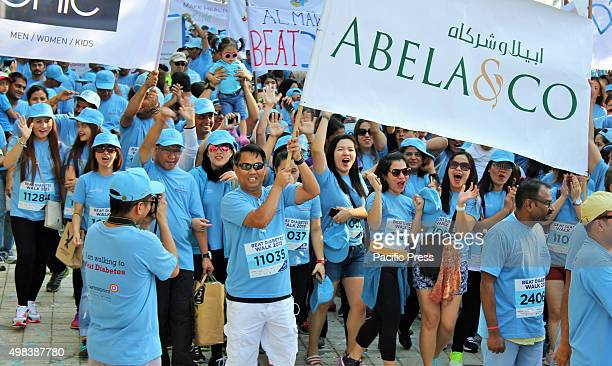 The Filipino employees from different companies and other nationalities as well participated in the 'Beat Diabetes Walk 2015'