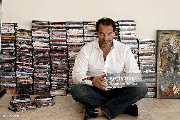The film producer Silvio Sardi at home during a photo shooting Miami United States 4th January 2009