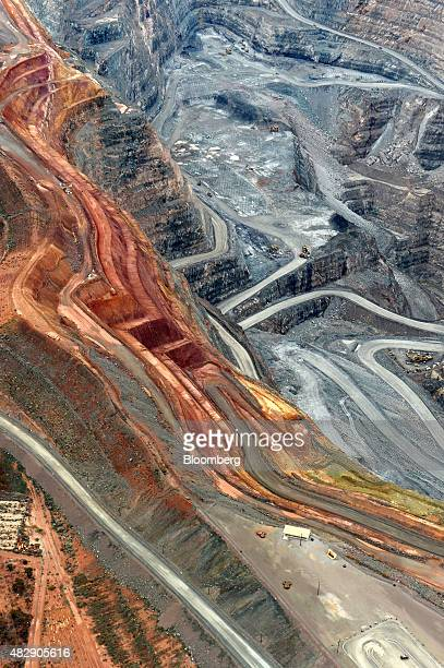 The Fimiston Open Pit mine known as the Super Pit stands in this aerial photograph taken above Kalgoorlie Australia on Monday Aug 3 2015 The Super...