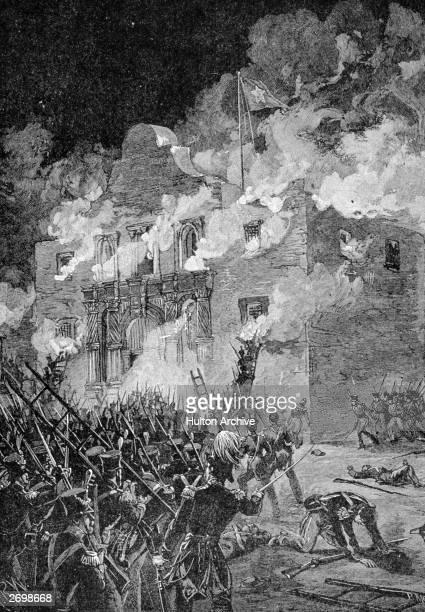 The final assault on the Alamo