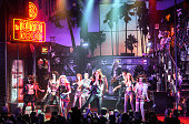The Final Cast performs at 'Rock Of Ages' Final Performance On Broadway at Helen Hayes Theatre on January 18 2015 in New York City