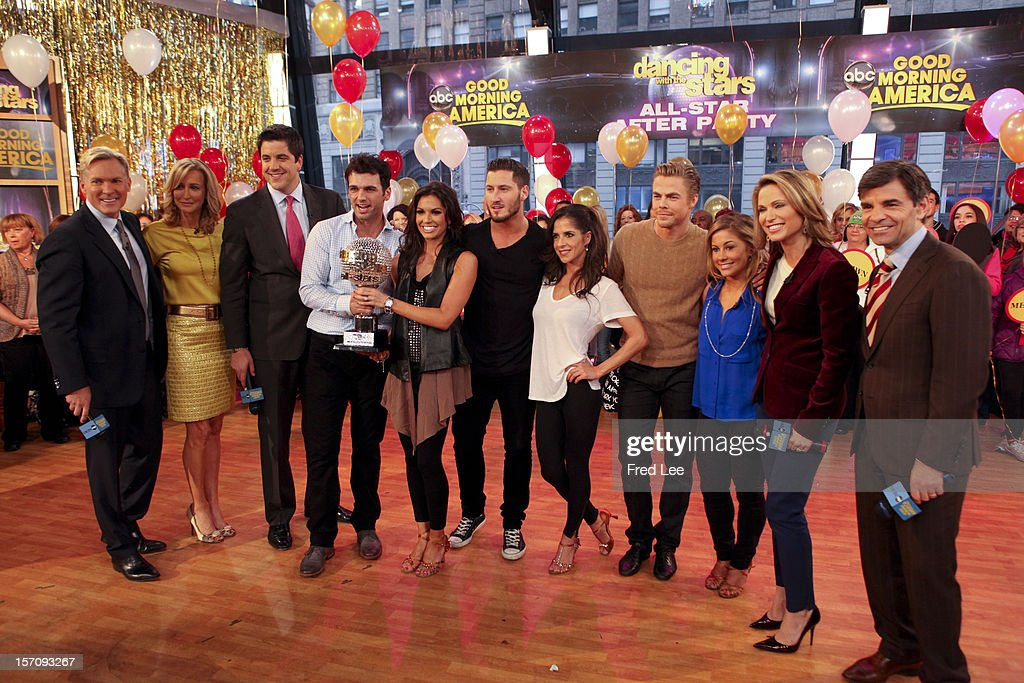 AMERICA - The final couple of 'Dancing with the Stars' appear on 'Good Morning America,' 11/28/12, airing on the ABC Television Network. (Photo by Fred Lee/ABC via Getty Images) SAM