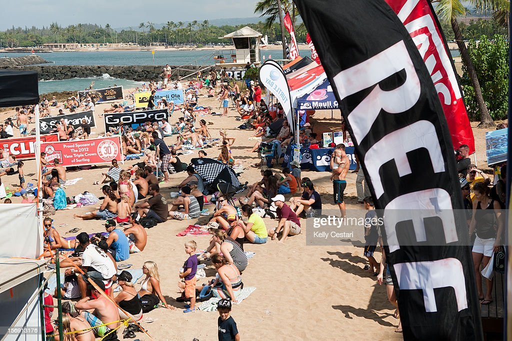 The final day of the REEF Hawaiian Pro crowned Sebastien Ziets of Hawaii the 2012 champion infront of a packed to capacity Ali'i Beach Park on November 24, 2012 in Haleiwa, Hawaii.