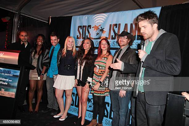 The final eight global contestants of ÒSOS Island Survival of the SmartestÓ LIron Maimon Karen Constant Brittany Joyal Rosy McMichael Jo Crawshaw...