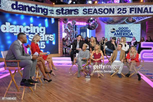 AMERICA The final four couples of Dancing with the Stars are guests and 98 Degrees perform live on 'Good Morning America' Wednesday November 22 2017...