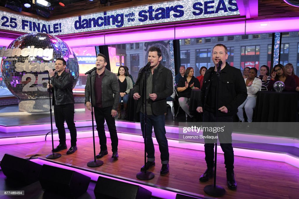 AMERICA - The final four couples of Dancing with the Stars are guests and 98 Degrees perform live on 'Good Morning America,' Wednesday, November 22, 2017 on the ABC Television Network. 98 DEGREES