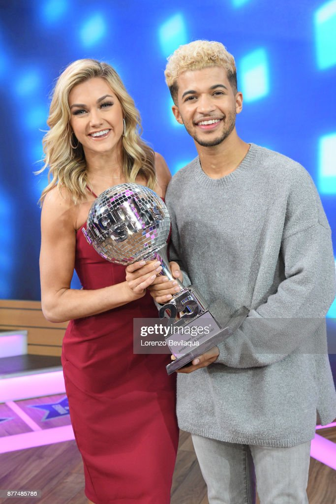 AMERICA - The final four couples of Dancing with the Stars are guests and 98 Degrees perform live on 'Good Morning America,' Wednesday, November 22, 2017 on the ABC Television Network. LINDSAY