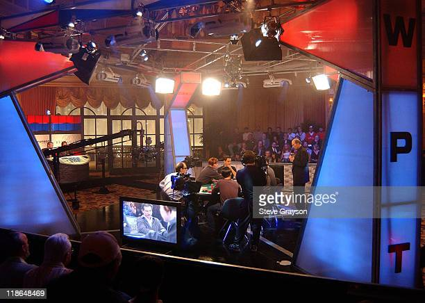 The final six players compete in the last round of the World Poker Tour's Doyle Brunson North American Poker Championship at the Bellagio Hotel in...