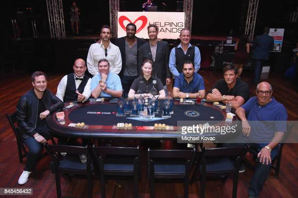 The final table at the Heroes for Heroes Los Angeles Police Memorial Foundation Celebrity Poker Tournament at Avalon on September 10 2017 in...