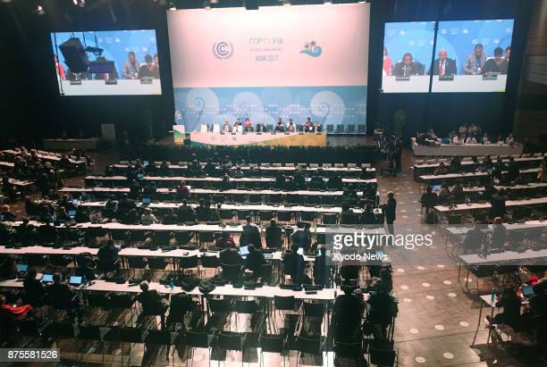The finalday session of the 23rd UN climate change conference is held in Bonn on Nov 18 2017 The 23rd Conference of the Parties known as COP23...