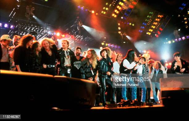The Finale of the Freddie Mercury Tribute Concert for AIDS Awareness at Wembley Stadium on Easter Monday April 20th 1992