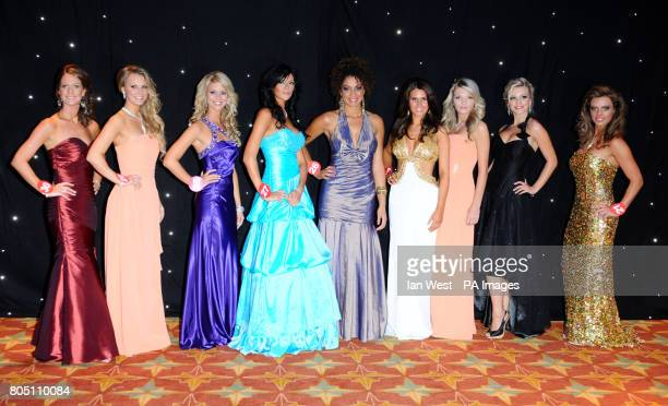 The finalists for Miss England 2009 from left to right Gemma Melville Danielle Talbot Alexandra Williams Kayleigh Fay Hewitt Helen Lawal Sarah...