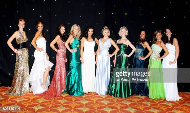 The finalists for Miss England 2009 from left to right Katy Worth Rachel Christie JamieLee Faulkner Ellen Winter Laura Gallagher Leanne Groutage...