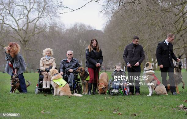 The finalists of Crufts Friends For Life Sally Baldwin with Brin Sue Harvey with Max Byron Harvey with Ziggy Tracey Marshall with Daisy Owen Howkins...