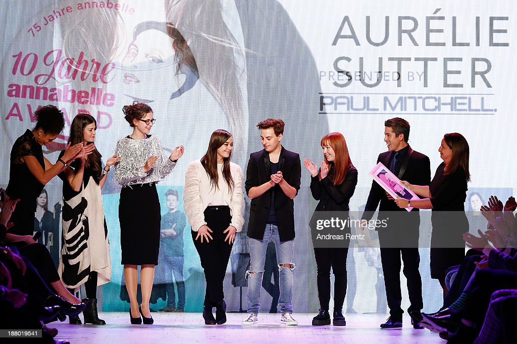 The finalists on the runway at the Annabelle Award finalists show during Mercedes-Benz Fashion Days Zurich 2013 on November 14, 2013 in Zurich, Switzerland.
