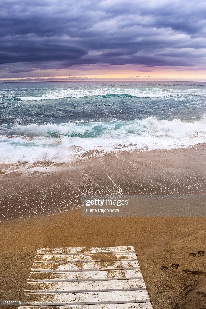 The fine colors of Glyfada beach : Stock Photo