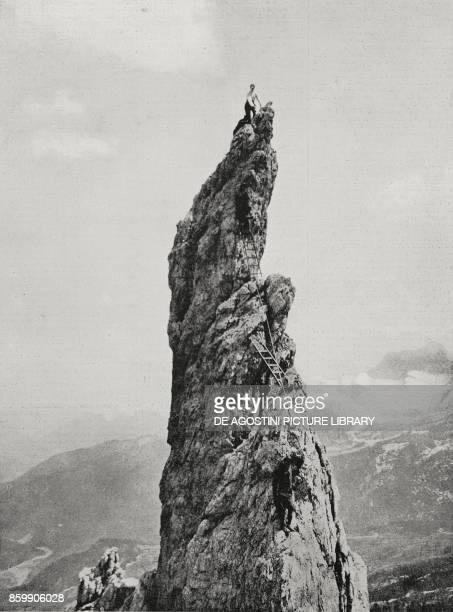 The Finger of God rocky monolith under the Tofana range Dolomites front World War I from L'Illustrazione Italiana Year XLIV No 26 July 1 1917