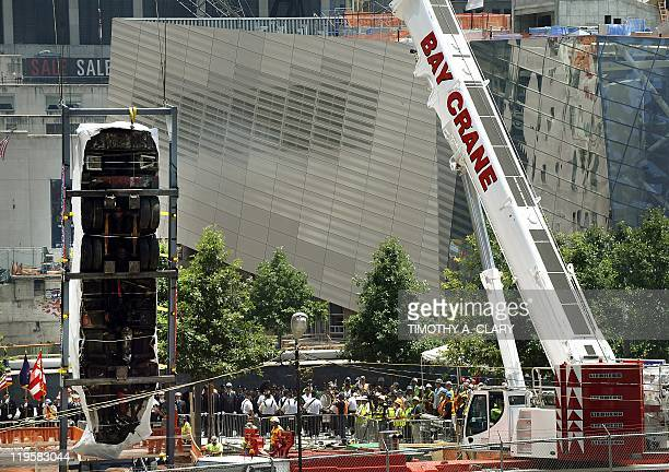 The Fire Department of New York's Ladder Company 3 fire truck which was responsible for evacuating civilians from the North Tower of the World Trade...