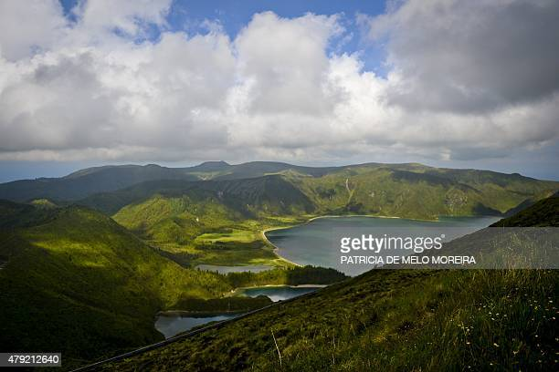 The Fire Lagoon is seen on the Sao Miguel island in Azores on July 1 2015 AFP PHOTO/ PATRICIA DE MELO MOREIRA