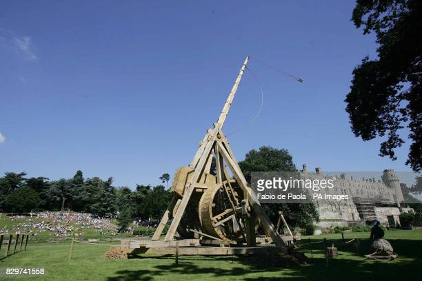 The firing of the world largest Trebuchet which is 18 metres tall and weighing 22 tonnes The mediaeval catapult is the latest addition to the...