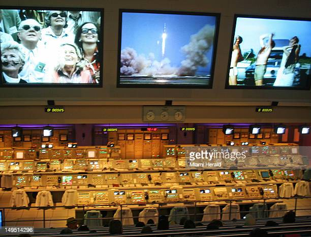 The Firing Room Theater at Kennedy Space Center is a replica of a NASA 1960s firing room with the actual launch consoles used in the Apollo program...
