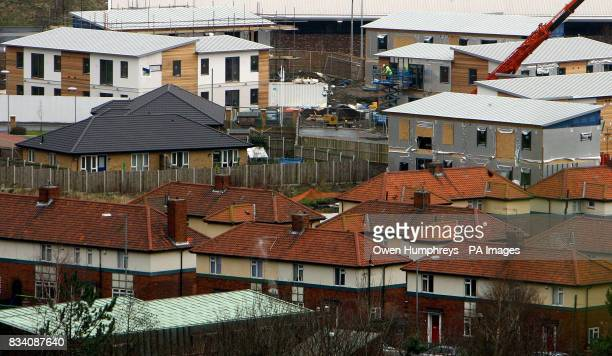 PHOTO The first affordable flat pack housing the BoKlok house by Ikea was today unveiled at Gateshead the new houses are to help first time buyers...