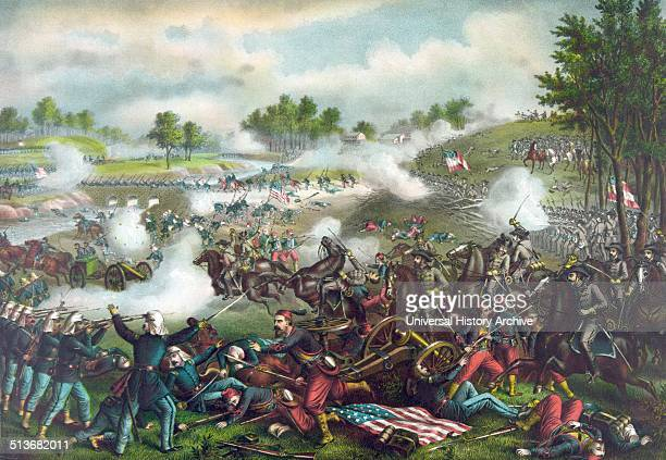 The First Battle of Bull Run also known as First Manassas was fought on July 21 in Prince William County Virginia near the city of Manassas not far...