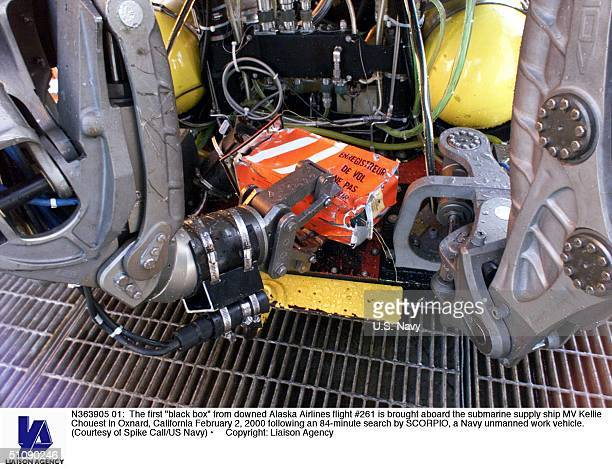 The First 'Black Box' From Downed Alaska Airlines Flight Is Brought Aboard The Submarine Supply Ship Mv Kellie Chouest In Oxnard California February...