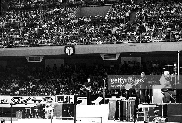 The first concert of the Beatles' Japanese tour at the Nippon Budokan Hall in Tokyo 30th June 1966