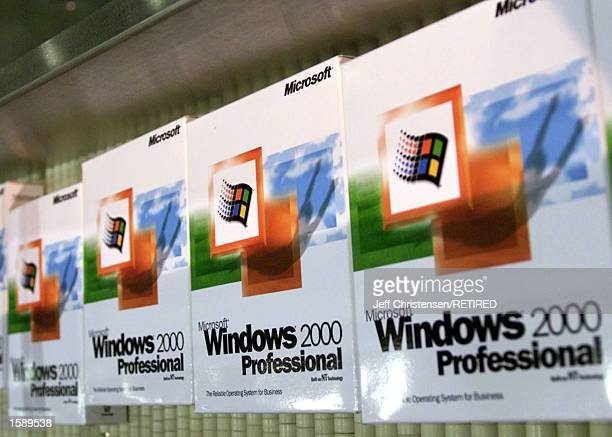 The first copies of Microsoft's Windows 2000 roll out on an assembly line in Salt Lake City UT December 14 1999 On April 3 2000 US District Judge...