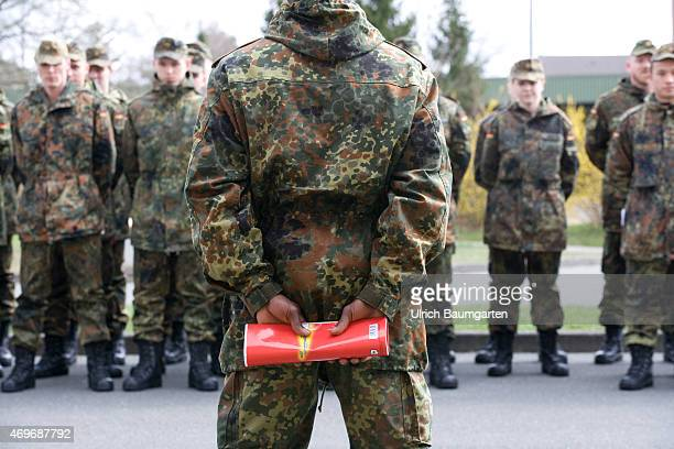The first days of new recruits during basic training at the Tank Battailon 203 of the German Armed Forces in Augustdorf Formal training