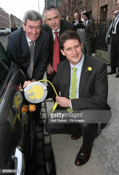 The first electric vehicle charge points in Ireland are officially launched by ESB chief executive Padraig McManus Paul Mulvaney Managing Director...