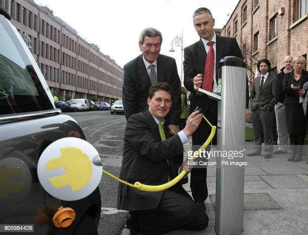 The first electric vehicle charge points in Ireland are officially launched by Minister for Communications Energy and Natural Resources Eamon Ryan...