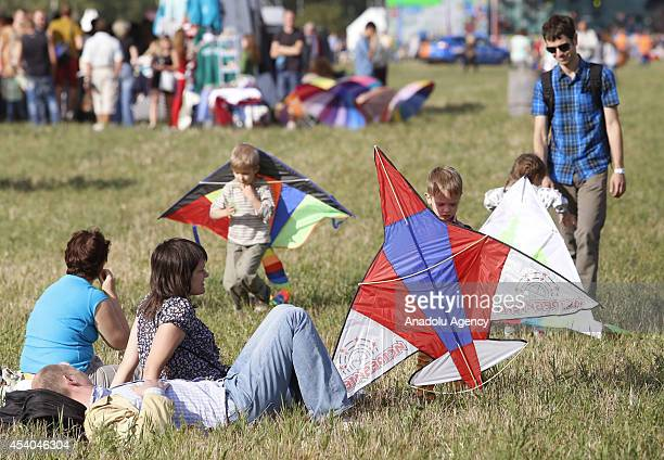 The first Festival of aeronautics 'Moscow Sky' is held with the participation of families flying kites radiocontrolled airplane models and other...