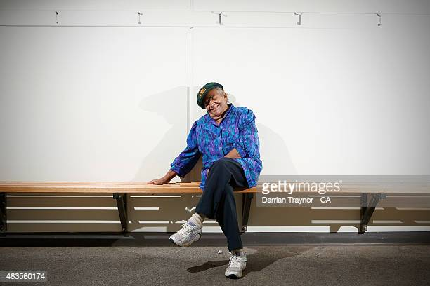 The first indigenous woman to play Test Cricket for Australia Faith Thomas poses for a portrait on February 12 2015 in Alice Springs Australia
